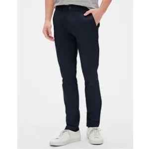 NWOT Men's Gap Skinny Fit Khakis Black Chinos Pant